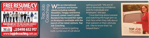 Top Job Coaching featured in Sandgate Guide July 2014